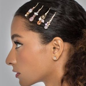 Swarovski Honey Pastel Formal Hair barrettes pins